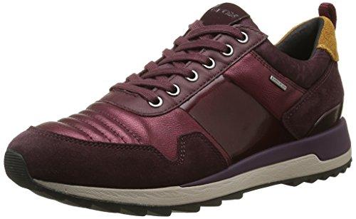 Geox D Aneko B Abx a, Zapatillas para Mujer Rot (Dk Burgundyc7357)