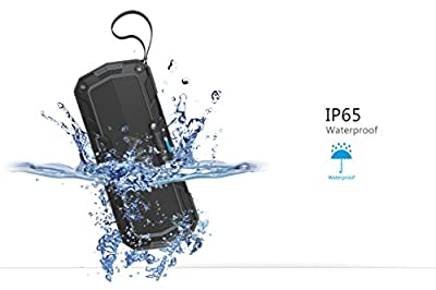 SoundFit Plus Waterproof Bluetooth Speaker - Durable Portable Outdoor Wireless Sound System - Features Powerful Bass and Clear Treble - Hands-Free with Built-In Microphone - Dust and Shock Resistant