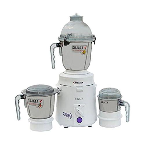 Sujata Dynamix DX Mixer Grinder, 900W, 3 Jars (White)