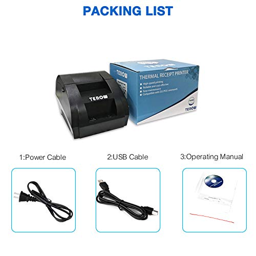 USB Thermal Receipt Printer TEROW 58mm Mini Small Portable