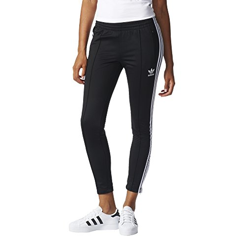 adidas Originals Women's Superstar Track Pant, Black/White, L