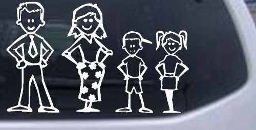 Stick family stick family car window wall laptop decal sticker white 13cm x 21cm decals bumper stickers amazon canada
