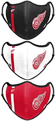 FOCO NHL unisex-adult NHL Team Logo Sport Reusable Washable Fashion Face Cover Mask 3-pack