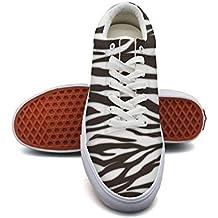 QJSY Womens' Fashion Canvas Sneaker Zebra Stripes Low Cut Canvas Sports Shoes