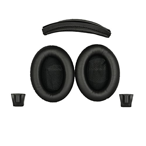 Replacement Ear pads and Headband Cushion pad for Bose Around-Ear 2 (AE2), Around-Ear 2 Wireless (AE2w) and SoundTrue Around-Ear (AE) headphones - NOT COMPATIBLE WITH OTHER BOSE HEADPHONES