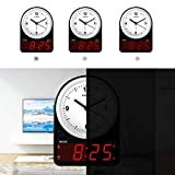 KWANWA Small Battery Operated Alarm Clock with