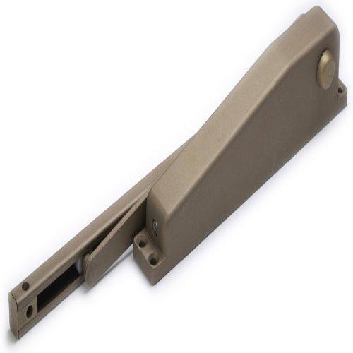 Global Door Controls Residential Hold Open Mini Door Closer in Brown