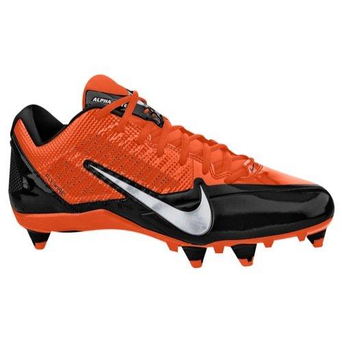 Mens Nike Alpha Pro 3/4 Td Tacchetta Da Calcio Bianco / Nero / Metallico Argento Nero / Argento Metallizzato / Arancione Flash