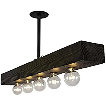 Recessed Wood Beam  Light Kitchen Island Pendant
