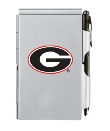 Wellspring University of Georgia Dawgs Metal Flip Notes with Pad and Pen