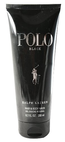 - Polo Black by Ralph Lauren for Men, Hair And Body Wash, 6.7 Ounce