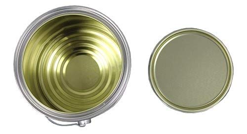 1 Gallon Gold Epoxy Lined Metal Paint Can with Lid + Ears & Handle