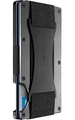 The Ridge Wallet Authentic | Minimalist Metal RFID Blocking Wallet - Cash Strap (Gunmetal) | Wallet for Men | RFID Minimalist Wallet, Slim Wallet