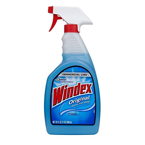 Windex 32 oz Commercial Line Original Powerized Glass Cleaner Trigger (Pack of 12) by Johnson Wax