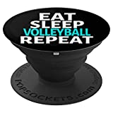 CocomoSoul-Mobile Eat Sleep Volleyball Repeat Volleyball MOM-Player PopSockets Stand for Smartphone - PopSockets Grip and Stand for Phones and Tablets