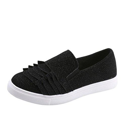 Schuhe Schuhe Freizeitschuhe Elegante friendGG Schuhe Schuhe Schuhe Einzelne Schuhe Spitze Schuhe Damenschuhe Schwarz Flache Schuhe Runde Kopf Weibliche Wildleder Große Schuhe gTqpqv4