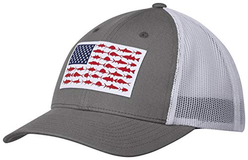 Columbia Mesh Snap Back, Titanium, Fish Flag, One Size ()
