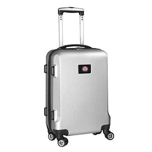 MLB Texas Rangers Carry-On Hardcase Spinner, Silver by Denco