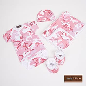 023baec11a49b Image Unavailable. Image not available for. Color: Baby Clothes Deluxe Gift  Set in Pink Camouflage ...