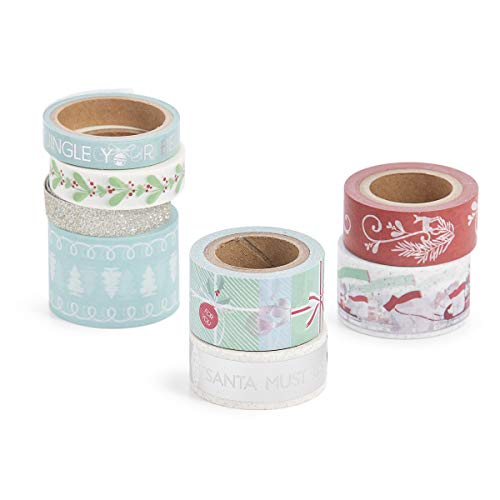 Martha Stewart 30068352 Washi Tape-Presents & Polar Bears, Assorted