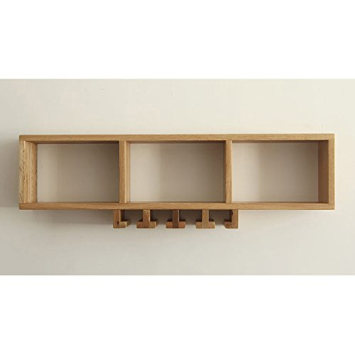 Rack shelf Walnut Wall Shelf Restaurant Wall Hanging Wine Rack Storage Rack Wood Creative Decoration Furniture Storage Rack ( Color : A (Wall Bracket Fixture Walnut)