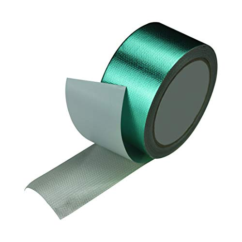 Tarpaulin Green - EONBON Waterproof Tarpaulin Repair Tape, 2 Inch x 26 Feet Heavy Duty Dark Green Polyethylene Tarp Repair Tape, Waterproof Joining Tarp Adhesive Tape for Tarpaulin