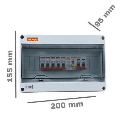 Caja distribucion electrica Superficie IP65 de 8 modulos Blanco, Cablepelado®