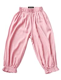 MFrannie Girls Loose Cool Summer Elastic Frill Bloomers Capri Pants