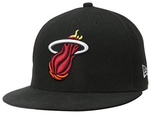NBA Miami Heat Hardwood Classics Basic Black 59Fifty Cap, Black, 7 3/8 (Hardwood Classic Hat)
