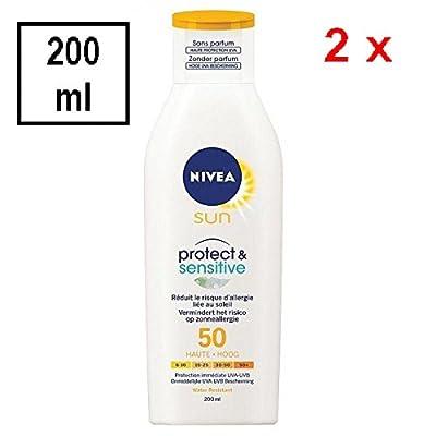 2x Nivea–Sun Protect & Sensitive F50para piel sensible–200ml