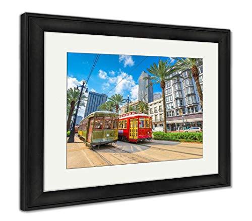 Ashley Framed Prints New Orleans Streetcars, Wall Art Home Decoration, Color, 26x30 (Frame Size), Black Frame, AG6468445