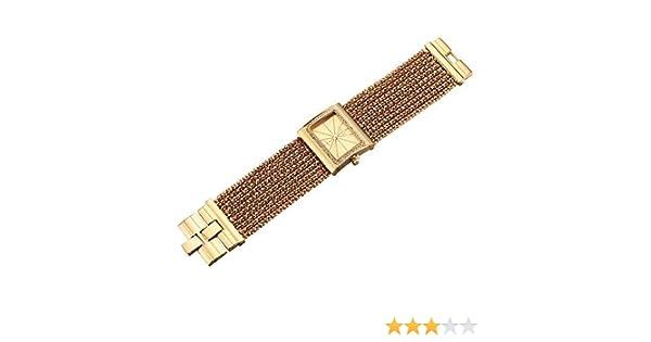 Reloj Tipo Brazalete con Diamantes, de Mujer (Dorado): Amazon.es ...