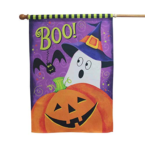 LAYOER Home Garden Flag House Double Sided Happy Halloween Pumpkin (28 x 40 Inch) -