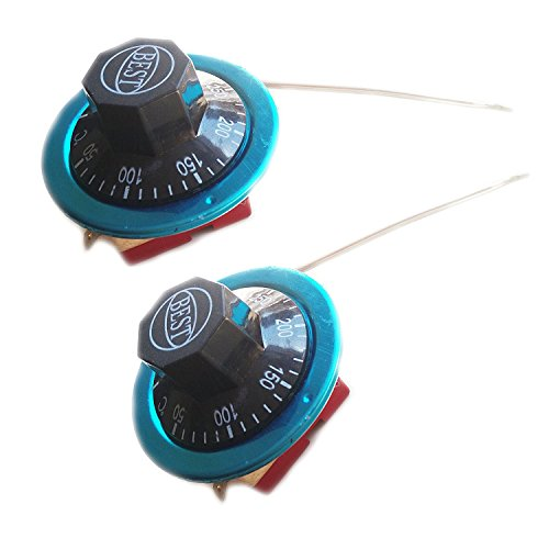Rannb Rotary Switch Temperature Controller Capillary Thermostat 50-300 Celsius 2 Pack ()