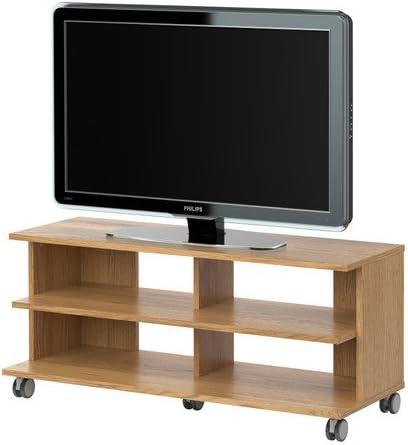 IKEA BENNO - Mueble TV con ruedas, chapa de roble - 118x42x51 cm ...