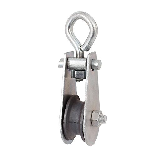 uxcell 0.03T 66.1Lbs Metal Lifting Crane Pulley Block Hanging Wire Towing Wheel