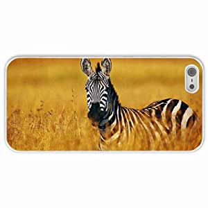 Personalized Apple iPhone 5 5S Back Diy PC Hard Shell Case Zebra White
