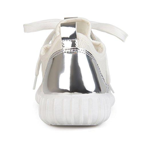 Collezione Journee Da Donna Sneakers In Metallo Leggero Traspirante Color Argento