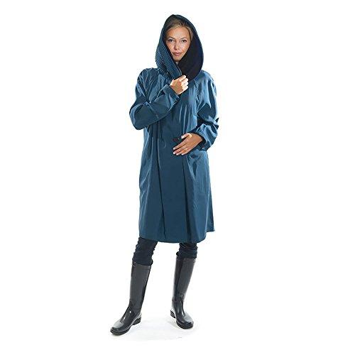 Mycra Pac Short Donatella Fashion Travel Raincoat (Extra Small, Sapphire) by Mycra Pac (Image #2)
