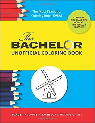 bachelor coloring book