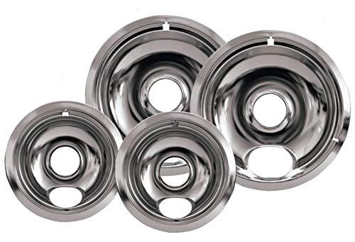 (KS) Set of 4 pc - Chrome Drip Pans Reflector Bowl 6