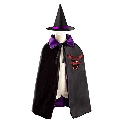 Children Five Nights at Freddy Foxy Halloween Christmas Cloak With Hat Witch Costume Props - Marionette Fnaf Costume