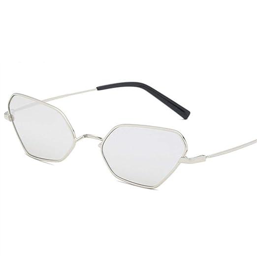 Yangjing-hl Gafas de Sol con Montura de Metal Ovalada para ...