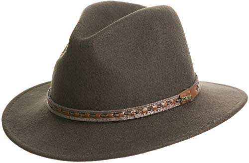 Sheepskin Hat Wool - Overland Sheepskin Co Sierra Crushable Wool Safari Hat Olive