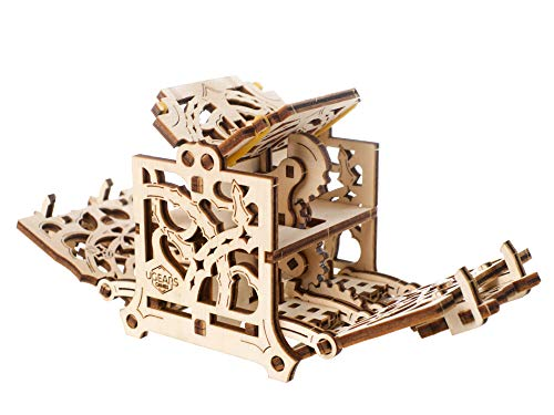(Ugears Dice Keeper - Wooden Box for Self Assembling, DIY Game Accessory to Keep Dice Safe )