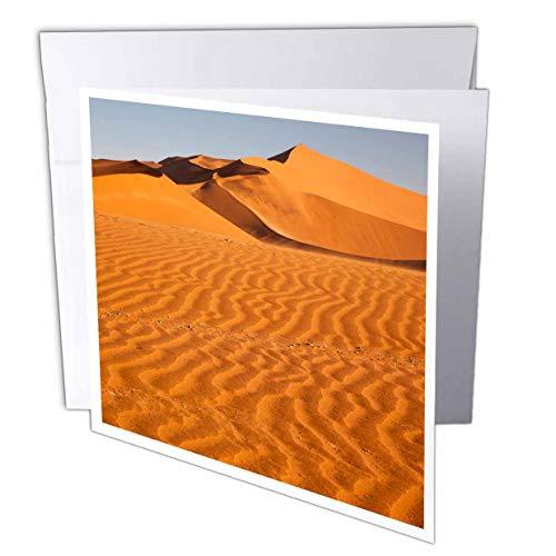 (3dRose Danita Delimont - Namibia - Namibia, Namib Desert, Sand Dunes with Wind Driven Patterns. - 12 Greeting Cards with envelopes (gc_310475_2))