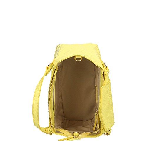 Chicca Borse Bolso en Piel genuina 32x23x15 Cm amarillo