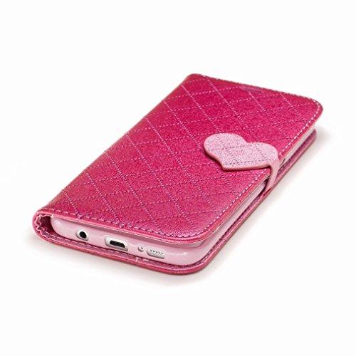 Yiizy Samsung Galaxy S7 Edge / G935 / G935F / G935FD Custodia Cover, Amare Design Sottile Flip Portafoglio PU Pelle Cuoio Copertura Shell Case Slot Schede Cavalletto Stile Libro Bumper Protettivo Bors