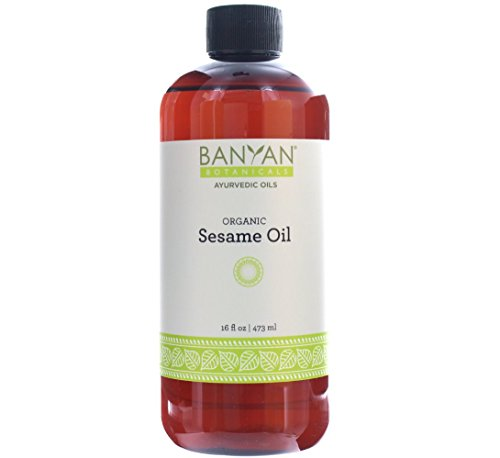 Banyan Botanicals Sesame Oil, Certified Organic, 16 oz - Pure, Unrefined - The Most Traditional of All Oils Used in Ayurveda, Good for Vata & Kapha (Top 10 Organic Cosmetic Brands In India)