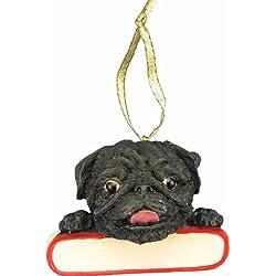 c8a5423f6de Pug Ornament Black